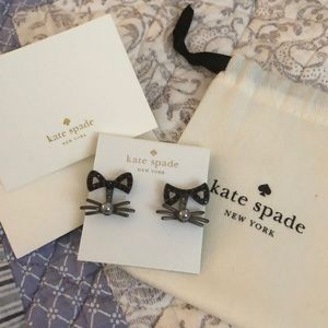 Too cute!!  New Kate Spade cat whiskers earrings!
